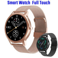 Sport Smart Watch Women men Smartwatch Stainless Steel Band For Iphone Android