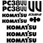 Komatsu PC38UU Decals Stickers, repro Kit for Mini Excavator