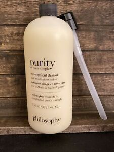 NEW & SEALED PHILOSOPHY PURITY MADE SIMPLE ONE-STEP FACIAL CLEANSER 32 OZ W/Pump