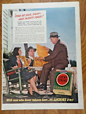 1941 Lucky Strike Cigarette Ad Fred Evans Independent Tabacco Buyer Danville VA