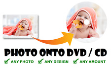 PERSONALISED DVD-R/CD-R CD DVD ANY PHOTO/PICTURE BLANK DISC WITH PLASTIC SLEEVE