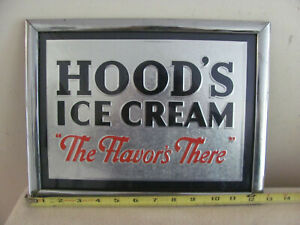 VINTAGE HOODS ICE CREAM ADVERTISING SIGN