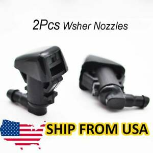 X2 Front Wiper Washer Nozzle Spray Hood For Jeep Liberty KK Commander 06-10