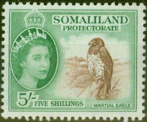 Somaliland 1953 5s Red-Brown & Emerald SG147 V.F MNH