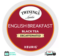 Twinings English Breakfast DECAF Keurig Tea K-cups YOU PICK THE SIZE