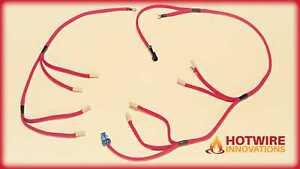 HUMMER / VAN SAVANA 6.5L TURBO DIESEL GLOW PLUG WIRING HARNESS OLD STYLE RED