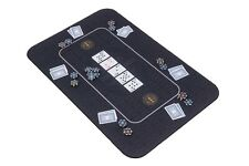 More details for the broadway poker mat in black by riverboat gaming - 100x65cm (poker table top)