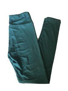 LULAROE WOMENS SOLID TEAL GREEN LEGGINGS ONE SIZE  OS 2-10 NWOT!