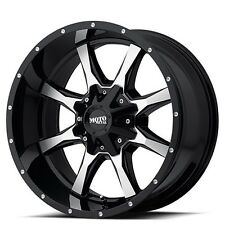 "New-4 Off Road 16"" Moto Metal Wheels MO970 Black W Machined Face Rims"