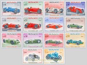 EBS MONACO 1967 - 25th Grand Prix - WINNING SPORTS CARS - 708-721 MNH**