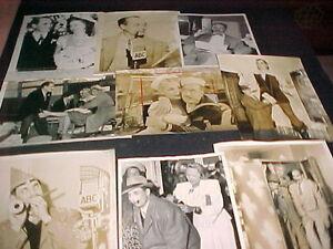 1940'S, 50'S MARX BROTHERS ORIGINAL PRESS PHOTOS 9 DIFF