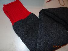 Red top boot socks with dark gray/black leg Size 15-16