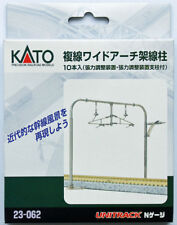 Kato 23-062 Double Track Catenary Pole Set (Wide Arch) (N scale)