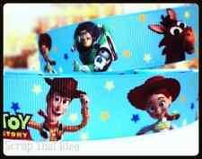 "Toy Story  RIBBON.  1"" Grosgrain. BLUE. Disney Pixar. Buzz,Woody,Jessie,Bullseye"