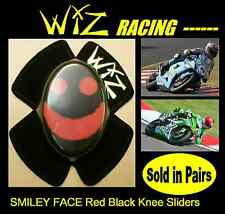WIZ KNEE SLIDERS SMILEY FACE RED BLACK