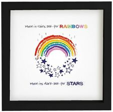 Rainbow and Stars UnFramed Print  in size 23cm x 23cm