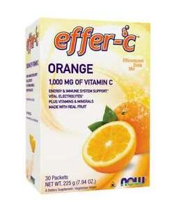 Effer-C Orange Effervescent Drink Mix 30 Packets