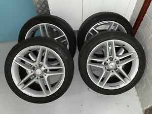 """x4 MERCEDES C CLASS W204 4x 17"""" AMG ALLOY WHEELS with Tyres"""