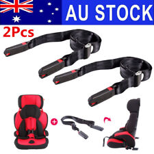 AU 2pcs Adjustable Car Baby Kids Safe Seat Strap Isofix Link Belt Anchor Holder