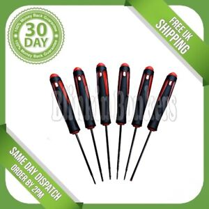 6PC PRECISION SCREWDRIVER SET FOR SMALL SCREWS PHILIPS TORX AND FLAT SLOT HEAD