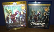 THE AVENGERS 3D BLU-RAY + BLURAY + DVD SET AUTHENTIC MARVEL ROBERT DOWNEY JR