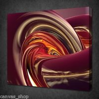 3D ABSTRACT CHROME SWIRL MODERN DESIGN PICTURE  CANVAS PRINT READY TO HANG
