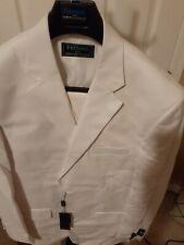 Men 44L White Three Piece Tuxedo