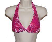 Tommy Bahama pink paisley halter bikini top size XS swimsuit women nwt