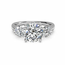 Engagement Women's Band Size 6 7 8 Solid 14K White Gold Ring 1.30 Ct Diamond