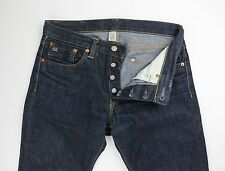 RRL Double RL Mens Dark Wash Slim Fit  Selvedge Denim Jeans Size 30 32 x 33 $300