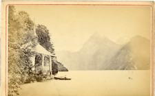 Suisse, La chapelle de Tell dans le canton d'Uri Vintage Albumen Print Ti