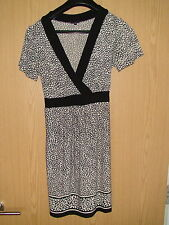 Next - Black and White Flower print Dress- Size 10