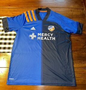 FC Cincinnati Home Authentic Aeroready Adidas Jersey Size XL 2020/2021 Soccer