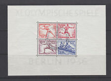 GERMAN REICH 1936 Olympic games Berlin - Sheet Used B92 (Mi.631 Block6)