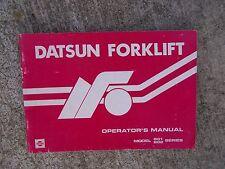 1983 Datsun Forklift B01 B02 Series Operator Manual MORE LIFT BOOKS IN STORE  V