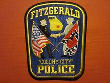 Collectible Georgia Police Patch Fitzgerald New