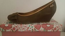OH My SHOES! OMS ORIGINAL MARINES da Donna Stretto Taupe Bronzo Ballerina UK 7 EUR