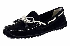 NIB $148 Cole Haan Black Suede Dawson Tassel Driving Loafers Moccasins, 8.5M