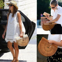 Bamboo Bag Summer Lady Tote Design Bamboo Handbag Straw Travel Clutch Cult