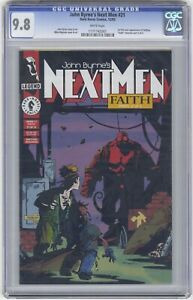 John Byrne's Next Men #21 CGC 9.8 HIGH GRADE Dark Horse Comic KEY 1st Hellboy