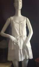 NWT Paul And Joe Sister 100% Cotton White Lace Eyelet  Dress Size 2/4 Euro36
