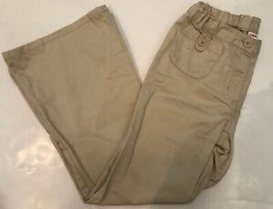 EUC Gymboree Girls Uniform Adjustable Waist Khaki Pants Sz 7