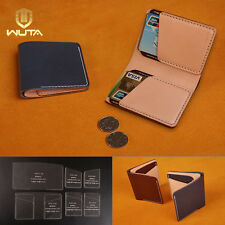WUTA Leather Vertical Wallet Template Acrylic Card Csae Pattern Diy Craft 817