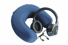 Memory Foam Travel Pillow and Noise Cancelling Headset Travel Pack