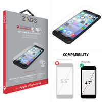New ZAGG Invisible Shield iPhone 8 Clear HD iPhone 7/6/6S Glass Screen Protector