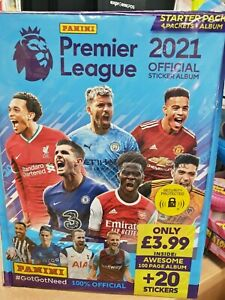 Panini Premier League 2021 Official Collection Starter Pack: Album + 20 Stickers