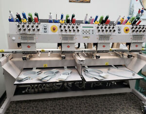 Melco Embroidery Machine EMT10/4T Industrial 4 head Pre-Owned Model# 01050001