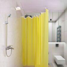 Foldable Shower Curtain Rod Wall Mounted Fan-shaped Bathroom Curtain Rail Holder