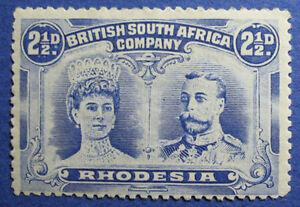 1910 RHODESIA 2 1/2d SCOTT# 104 S.G.# 131a UNUSED                        CS09764
