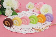 IWAKO Dessert 6 Small Roll Cake Take-Apart Rubber Erasers Set Made in Japan
